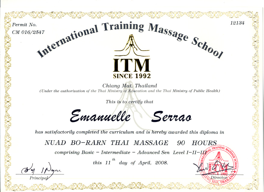 Diploma Thai Massage 2008