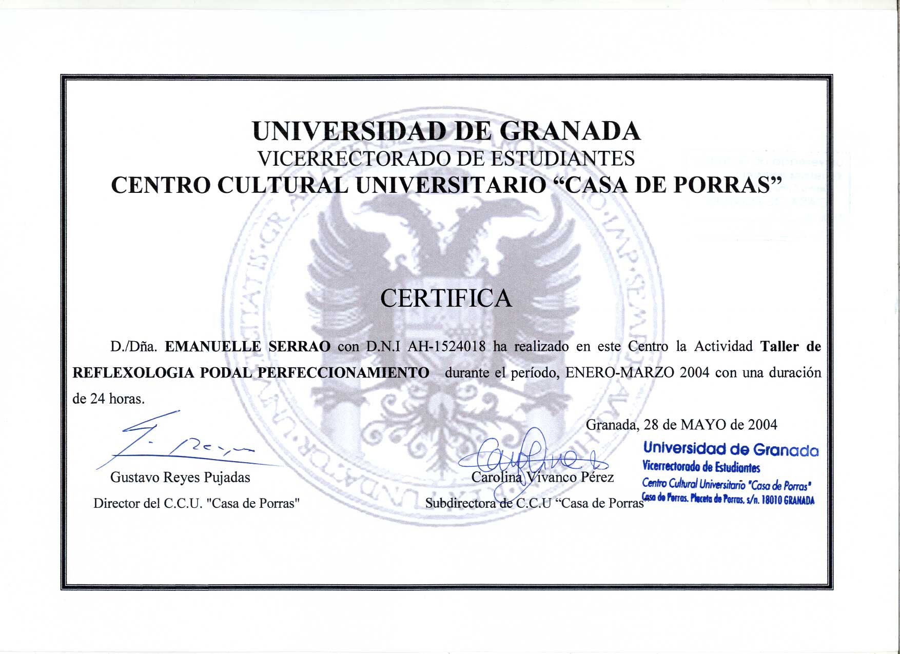 Reflexologia Granada 2004
