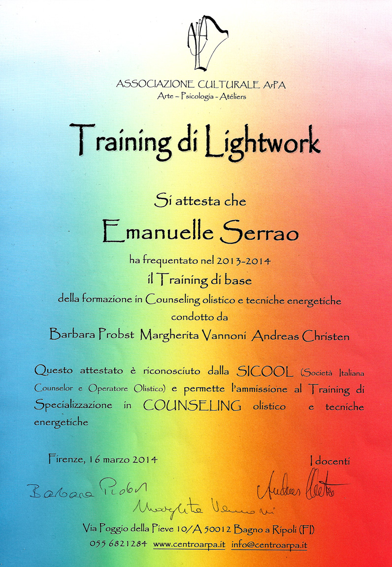Attestato training Light Work