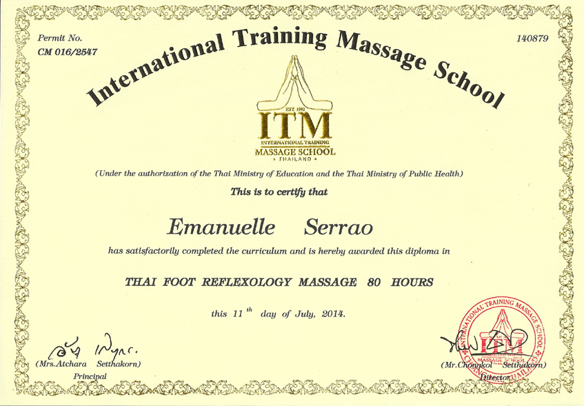 Diploma in Thai Foot Reflexology Massage