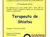 Diploma shiatsu shaoyin 2005